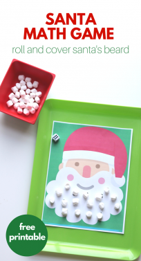 Santa math game for preschool