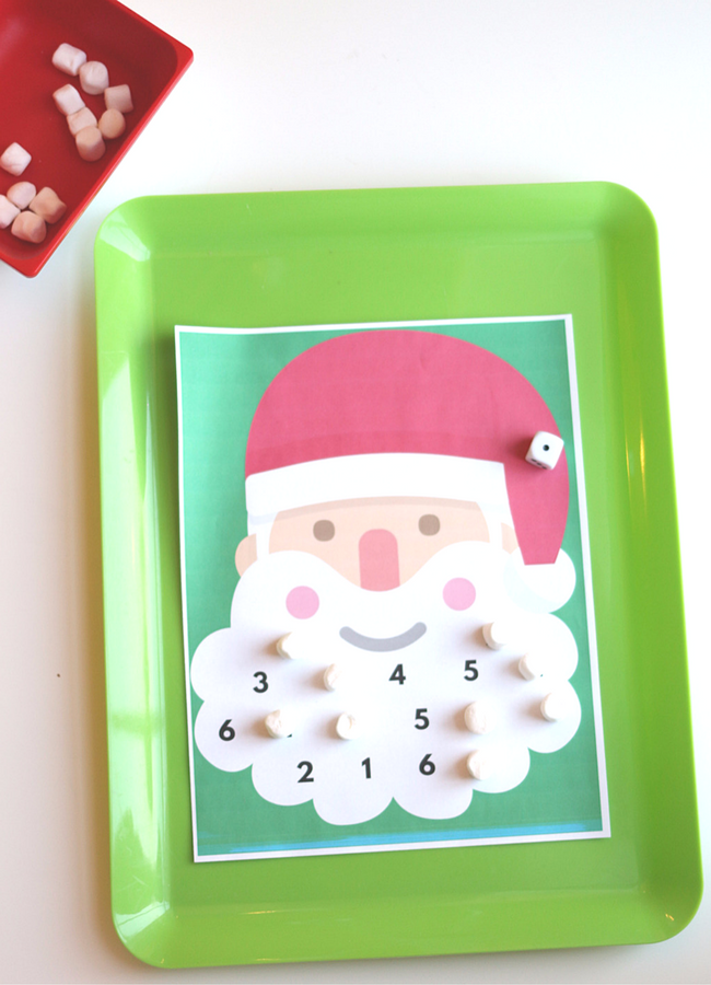 Roll & Cover Santa Math Game - Free Printable Game! - No Time For ...