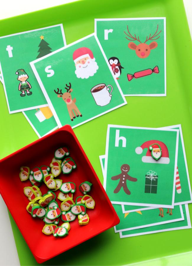Target dollar spot mini eraser activities letter sound cards for kindergarten