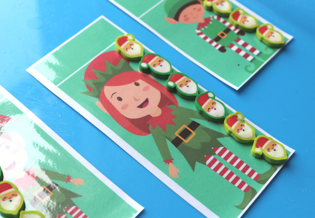 Target dollar spot mini eraser activities printables measuring elves