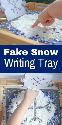 Fake Snow Writing Tray: A Pre-Handwriting Activity