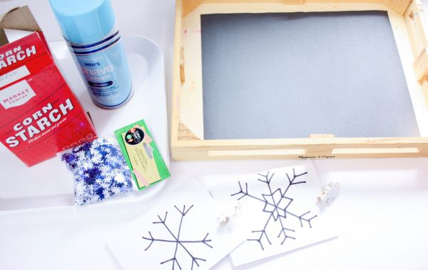 fake snow writing tray 6