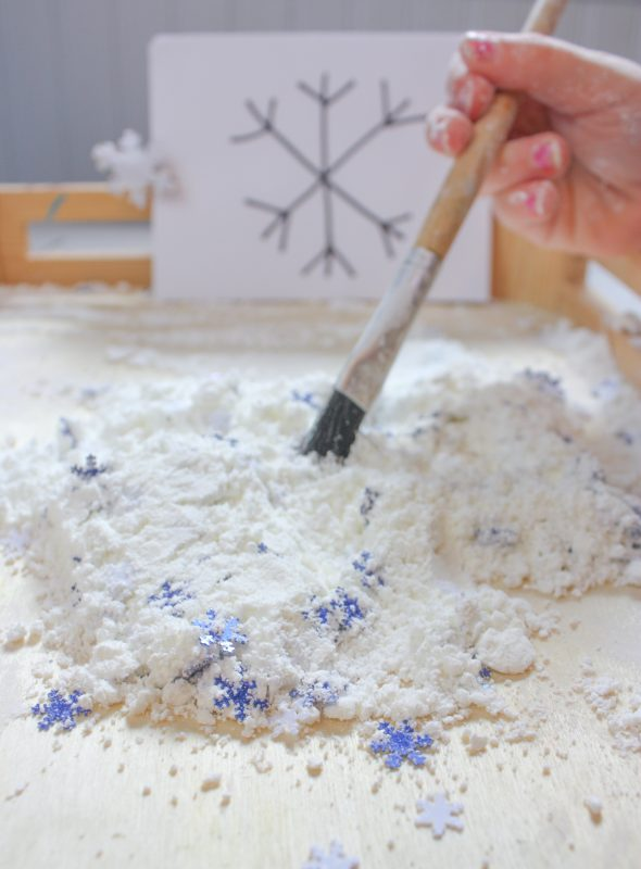 fake snow writing tray 7