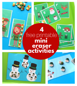 4 Free Printables To Use with Target Dollar Spot Mini Erasers!
