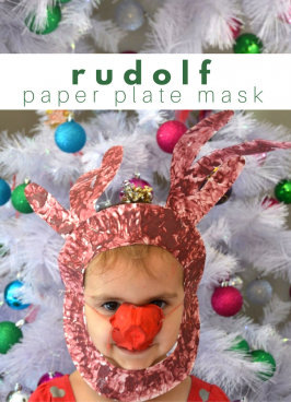 Rudolph Paper Plate Mask