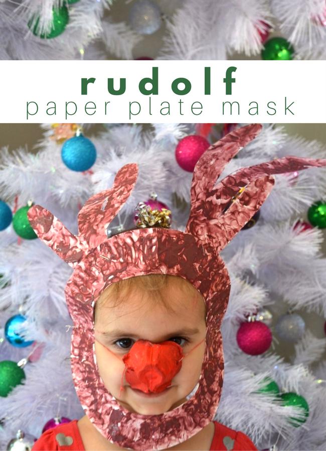 rudolf paper plate mask