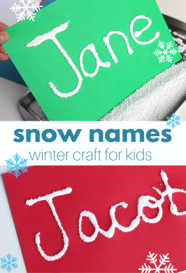 Snow Names – Winter Craft for Kids