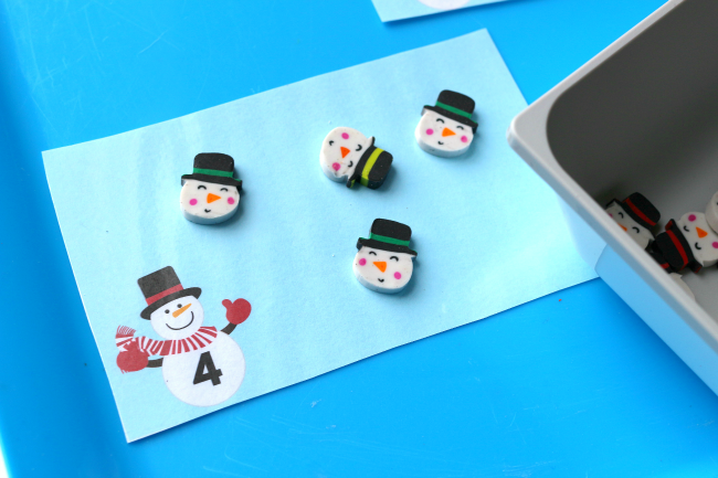 snowman target dollar spot mini erasers
