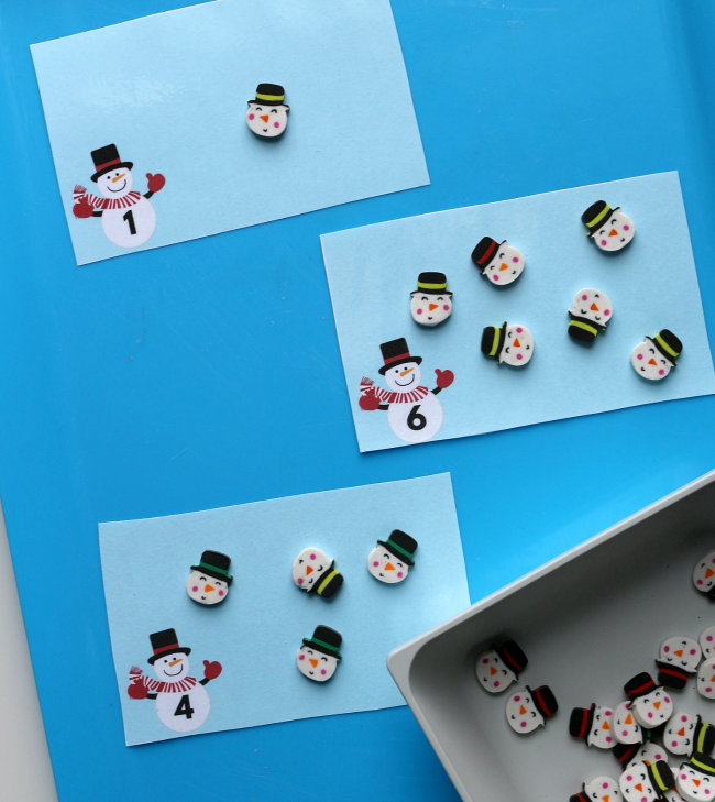target dollar spot snowmen mini eraser printables