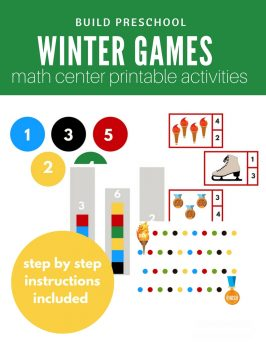 Winter Games Inspired Math Center Ideas