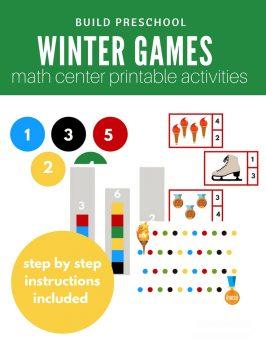 Winter Games Inspired Math Center Ideas