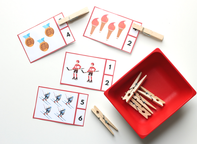 Olympics theme math center ideas for preschool (2)