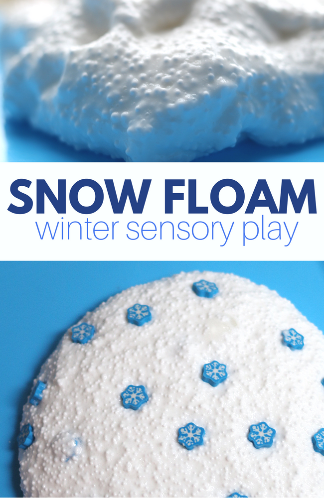 Snow Floam Winter Sensory Play For Kids No Time For