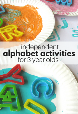 Independent Alphabet Activities For 3 Year Olds