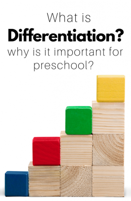 What is Differentiation? Why is it important for preschool?