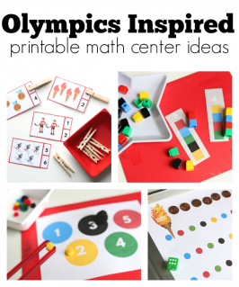 Olympics Inspired Math Center Ideas