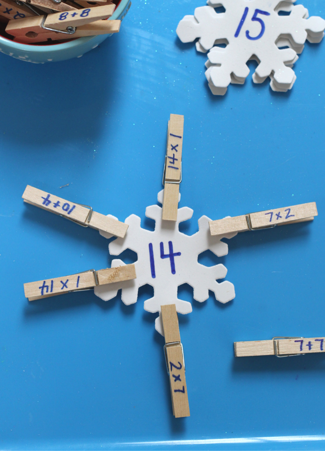 snowflake math center activity homeschooling elementary school (3)