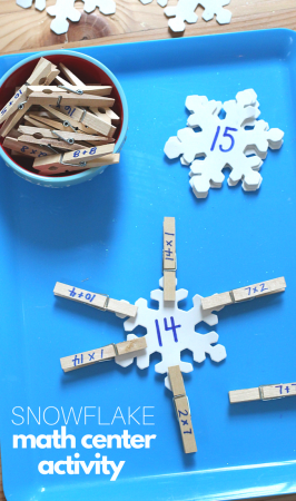Snowflake Math Center Activity