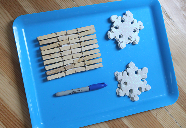 snowflake math center activity homeschooling elementary school
