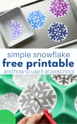 Winter Printable For Preschool – free snowflake printable and how to use it a few ways!