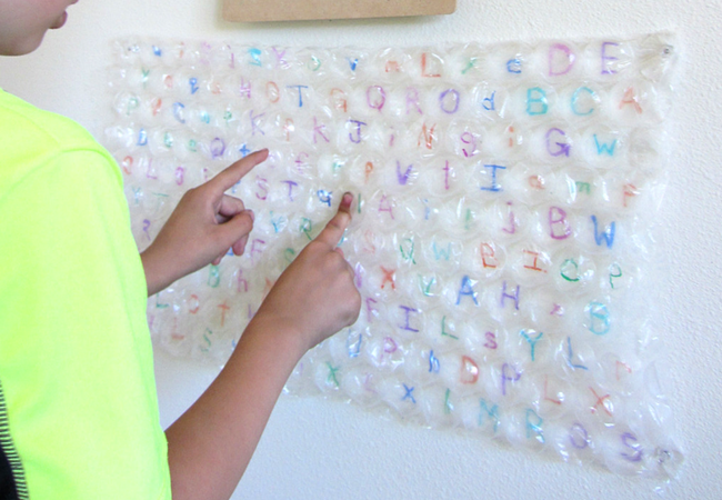 Bubble wrap letter recognition activity (2)