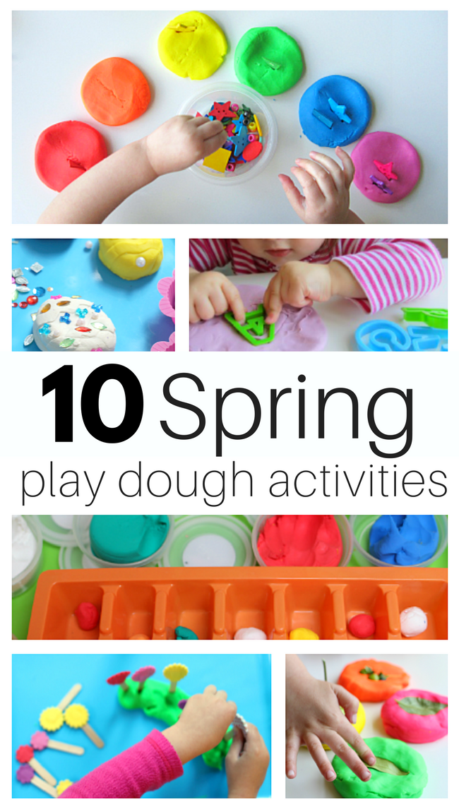 Spring Play Dough Activities For Preschool - No Time For