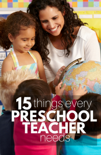 Preschool teachers need these things!