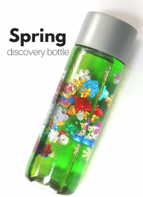 Spring discovery bottle for preschool