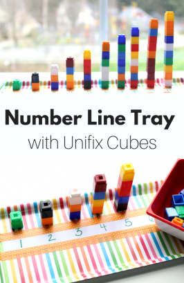 Number Line Tray with Unifix Cubes