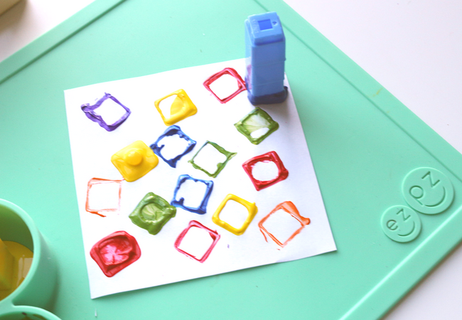 Square Painting activity for toddlers