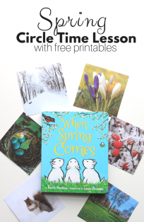 when spring comes circle time lesson for preschool by no time for flash cards