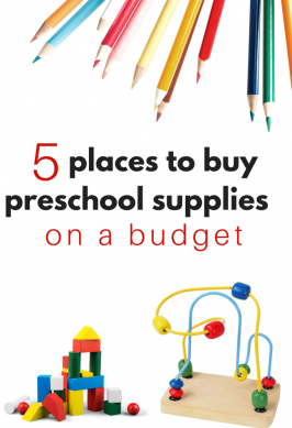 Where Did You Get That? Where To Buy Preschool Supplies On A Budget