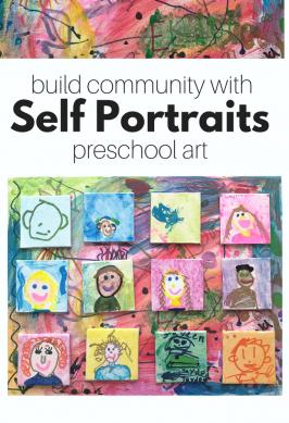 Class Art Self-Portraits For Preschool