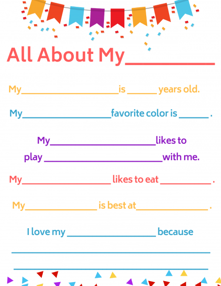 All About- inclusive questionnaire for preschool