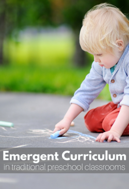 How to fit emergent curriculum into your traditional preschool classroom