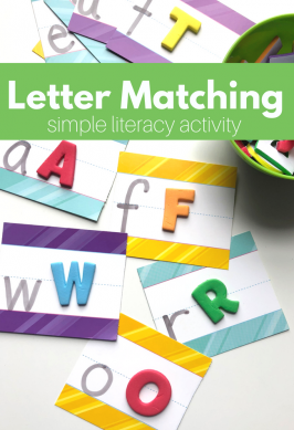 Letter Matching with Stickers