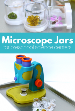 Microscope Jars for Your Preschool Science Center
