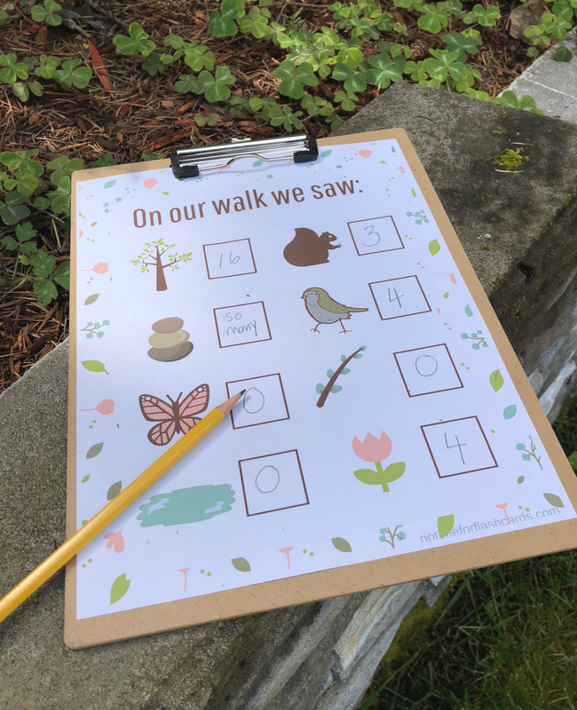 nature walk math activity for preschool and kindergarten (3)