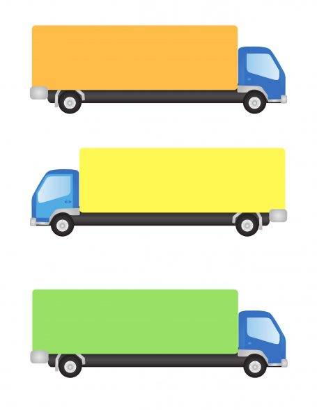 trucks for printable magnet activity