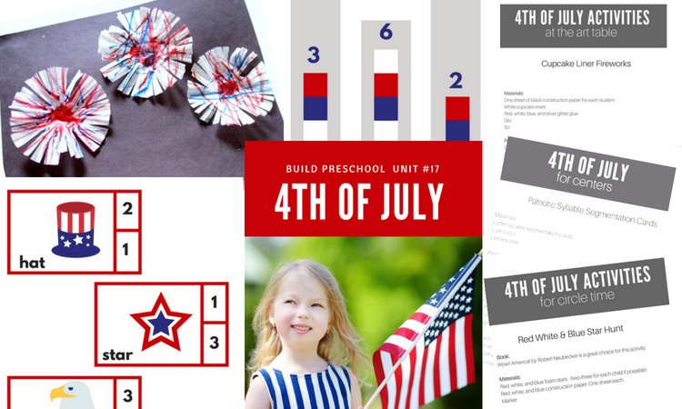 4th of july printables for preschool