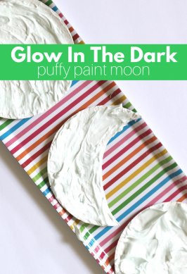 Glow In The Dark Puffy Paint Moon Craft