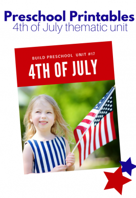 4th of July Preschool Printables & Mini Thematic Unit