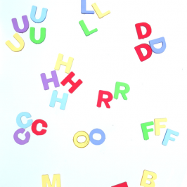 Letter manipulatives for preschool