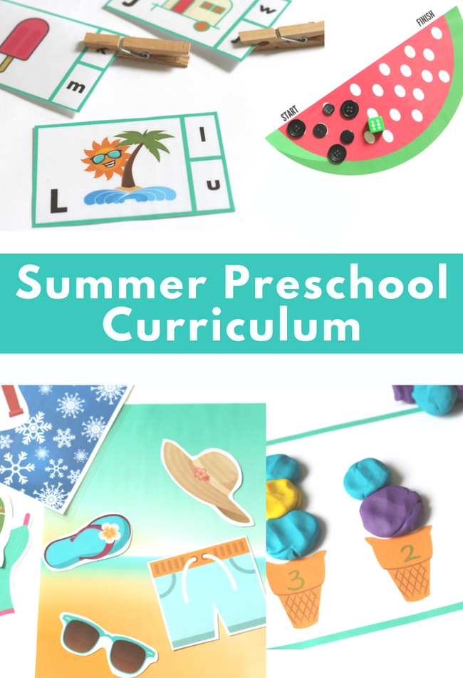 preschool curriculum for summer