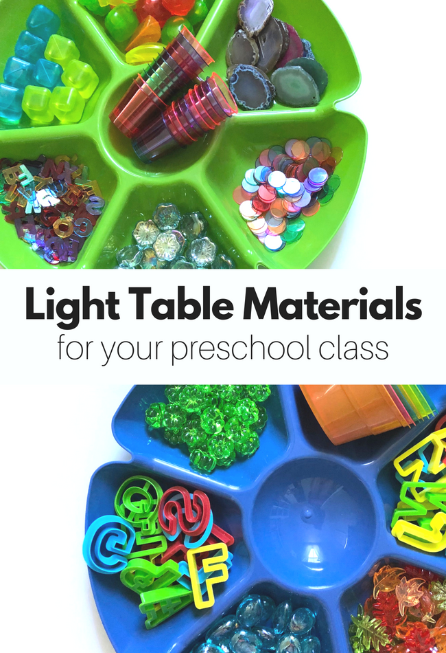 light table materials