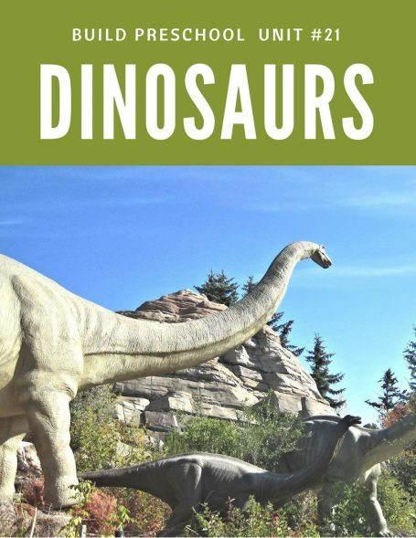 Dinosaur thematic unit for preschool with lesson plans and hands-on printable activities