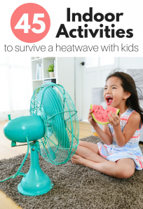 Indoor activities for kids during a heatwave