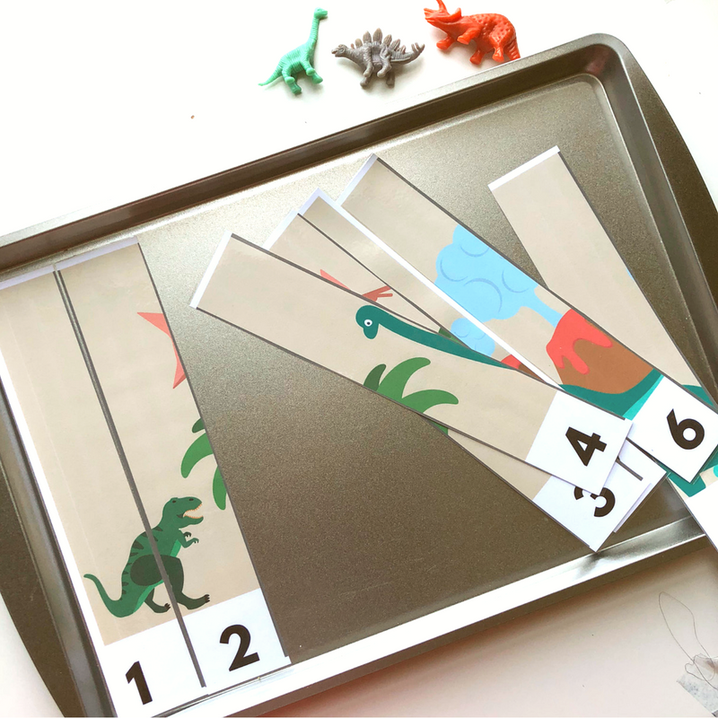 dinosaur math puzzle for preschool