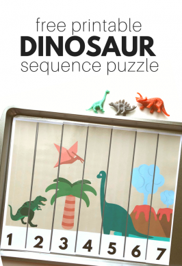 Dinosaur Sequence Puzzle – Free Printable