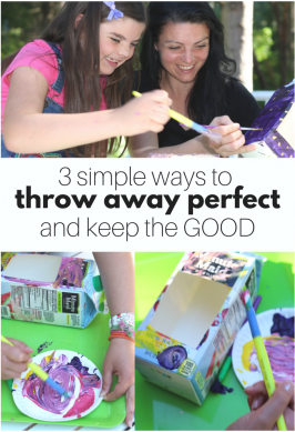 3 ways to throw away perfect, and keep the good. This is GOOD